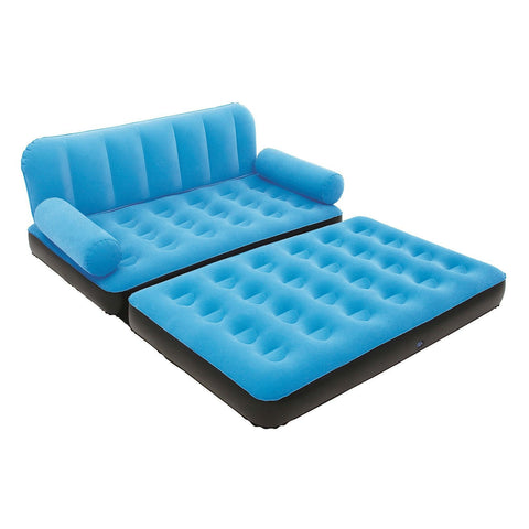Blue Inflatable Indoor/Outdoor Muti Purpose Sofa Couch Bed Lounge w/ Air Pump-Living Room > Sofas-Loluxe