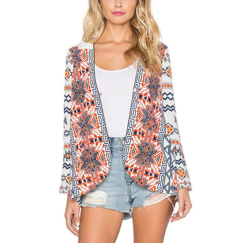 Boho-Style Tribal Open-Front Long-Sleeve Casual Kimono S-L-Loluxe