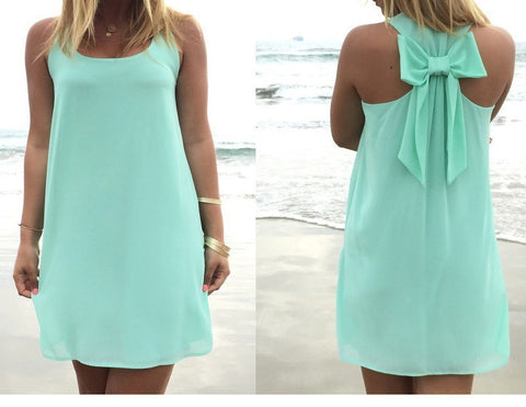 Bowknot Chiffon Sundress/Beach Cover Up S-3XL 8 Colors-Loluxe