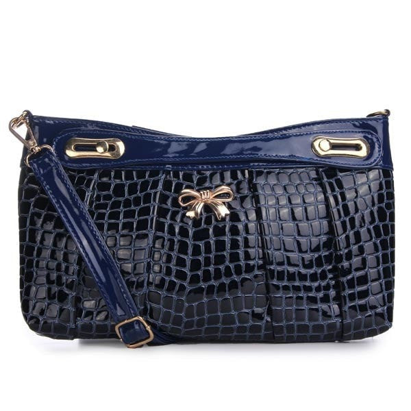 Bowknot Decorated PU Leather Crossbody Bag-Handbags-Loluxe