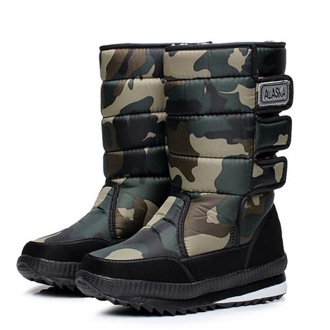 Camouflage Winter Warm Thick Waterproof Men's Boots 3 Colors-Loluxe