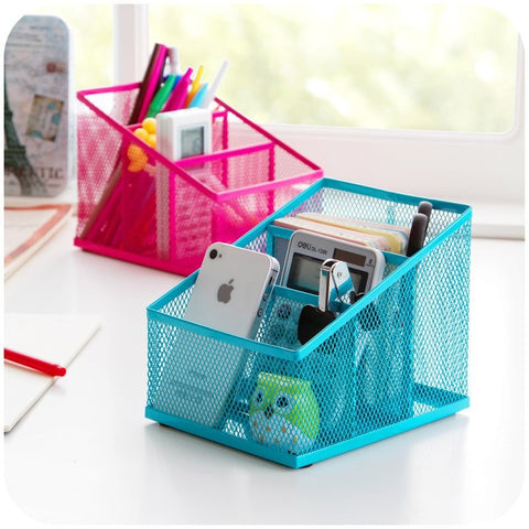 Candy-Colored 3-Section Desk/Vanity Organizer 3 Colors-Loluxe
