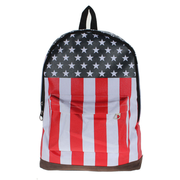 Canvas USA United State Flag BackPack School Bag-backpack bookbag-Loluxe