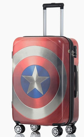 Captain America Limited Edition Hardside High-Quality Rolling Luggage Suitcase 3 Sizes-Loluxe