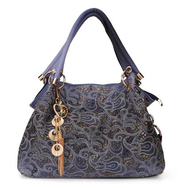 Carved Auspicious Clouds Pattern Women Handbags-Handbags-Loluxe