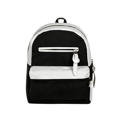 Casual High-Quality Color-Block Canvas Mutli-Pocket Backpack 4 Colors-Loluxe