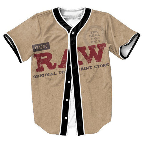 Casual RAW Men's Baseball-Style Casual Jersey Streetwear Top S-3XL-Loluxe