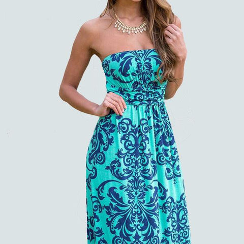 Casual Summer Pretty Cool Summer Maxi Dress S-XL 2 Colors-Loluxe