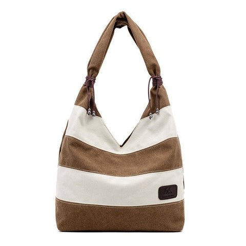 Casual Summer Stripe Ladies Tote Handbag 5 Colors-Loluxe