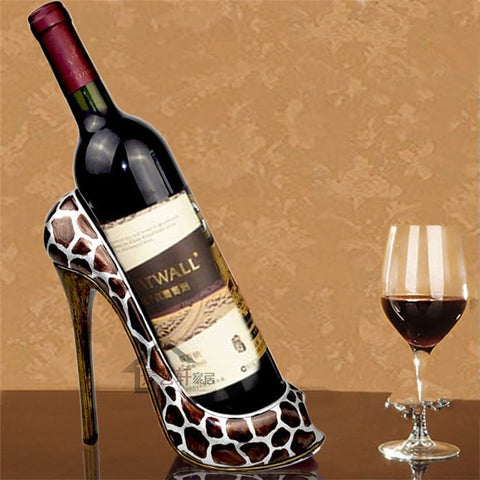 Classic Chic Fashion Resin Decorative High Heel Women's Shoe Wine Bottle Holder 9 Styles-Kitchen > Wine Racks and Coolers-Loluxe