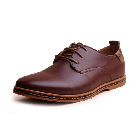 Classic Oxford Fashion Men's Leather Shoes 5 Colors-Loluxe