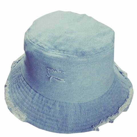 Classic Women's Soft Denim UV-Resistant Fisherman Hat 2 Colors-Loluxe