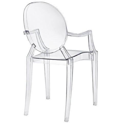 Clear Acrylic Stacking Dining Chair - Modern Ghost Style-Dining > Dining Chairs-Loluxe