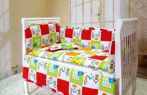 Colorful High Quality 6 PC Babies Bedding Set-Loluxe