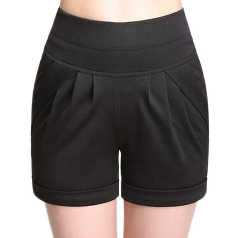 Comfortable Casual Ladies High-Waist Summer Shorts S-4XL 7 Colors-Loluxe