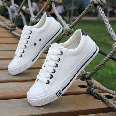 Comfortable Quality Canvas Leisure Sneakers 3 Colors-Loluxe