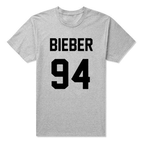 Comfortable Unisex Cotton Justin Bieber T-Shirt XS-2XL 4 Colors-Loluxe