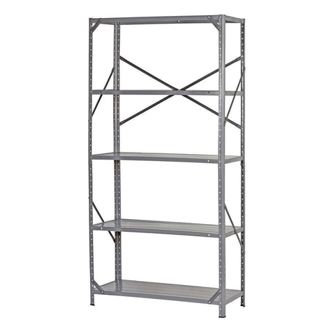 Commercial Steel Freestanding 5-Shelf Unit with Rubber Feet-Accents > Shelving Units-Loluxe
