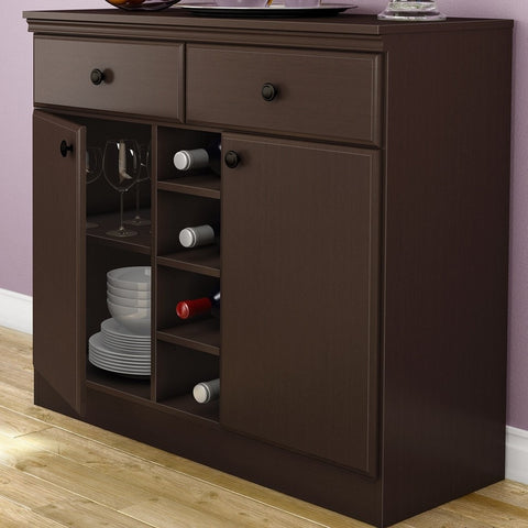 Console Table Sideboard with Storage Drawers in Chocolate-Dining > Sideboards & Buffets-Loluxe
