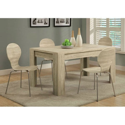 Contemporary 59 x 35.5-inch Dining Table in Natural Wood Finish-Dining > Dining Tables-Loluxe