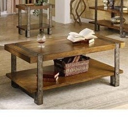 Contemporary Modern Classic Coffee Table in Worn Oak Finish-Living Room > Coffee Tables-Loluxe