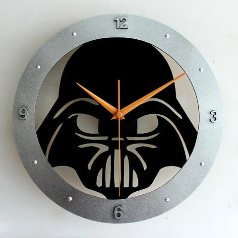Cool Darth Vader Star Wars Silent Wall Clock-Loluxe