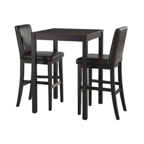Counter Height Pub Bar Dining Table in Black Wood Finish-Dining > Dining Tables-Loluxe