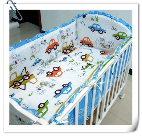 Cute Automobile Design Print 6-PC 100% Cotton Baby Nursery Bedding Set-Loluxe