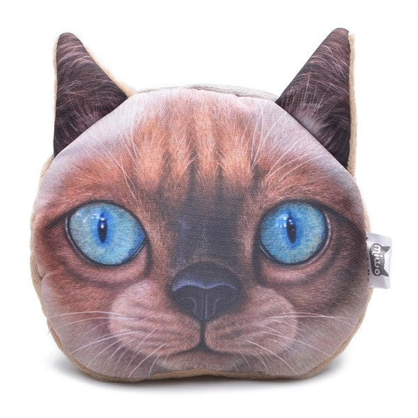 Cute Cat Face Wallet Women Zipper Coin Money Purse for Cat Lovers-coin purse wallet clutch-Loluxe