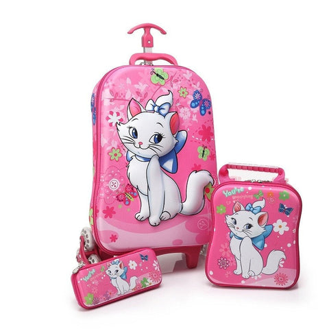 Cute Children's High-Quality Creative Fashion EVA 3-PC School Backpack Travel Luggage Set 13 Styles-Loluxe