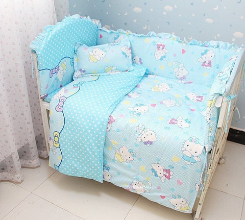 Cute & Cozy Hello Kitty 6-PC Top Quality Baby Nursery Bedding Set-Loluxe