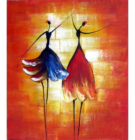 "Dance with Me Oil Painting H 36 "" x W 24-Loluxe"