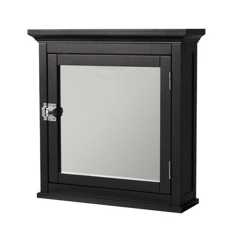 Dark Espresso Finish Bathroom Wall-Mount Medicine Cabinet with Mirror-Bathroom > Bathroom Cabinets-Loluxe