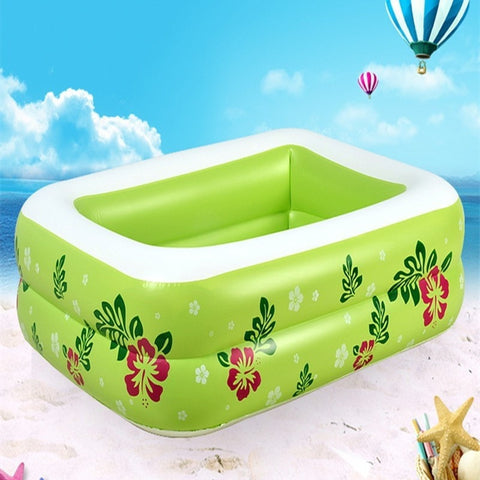 Durable Portable Inflatable Square Large Capacity Children's Pool 3 Colors-Loluxe