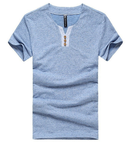 Eco-Friendly Hemp Men's Casual Slim-Fit Tee Top M-3XL 2 Colors-Loluxe