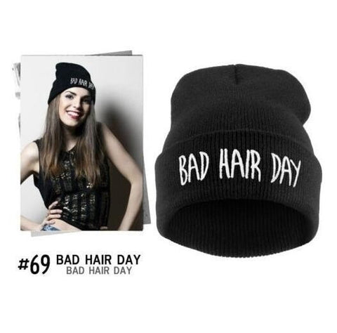 Everyone Needs One Of These! Bad Hair Day Neon Knitted Fashion Skully Cap 12 Colors-Loluxe