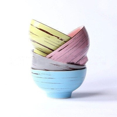 Exquisite Cracked Striped Pattern Bowls 4 PC Set-Loluxe