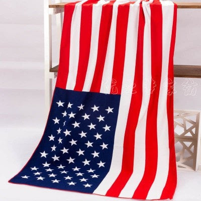 Fade-Resistant Large Quality National Flag Bath/Beach Towels 6 Designs-Loluxe