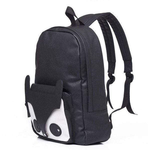 Fashion Cute Fox Black Brown Women Backpack Girls Students Schoolbag-backpack bookbag-Loluxe