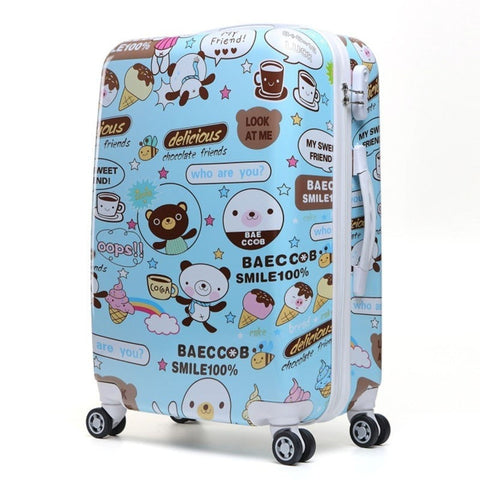 Fashion Design Print High-Quality Hardside Spinner Wheels Trolley Luggage 4 Styles-Loluxe