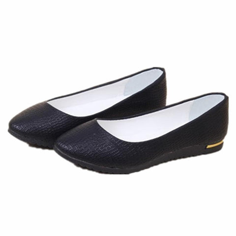 Fashion Faux Leather Casual Comfort Women's Ballerina Shoes 6 Colors-Loluxe