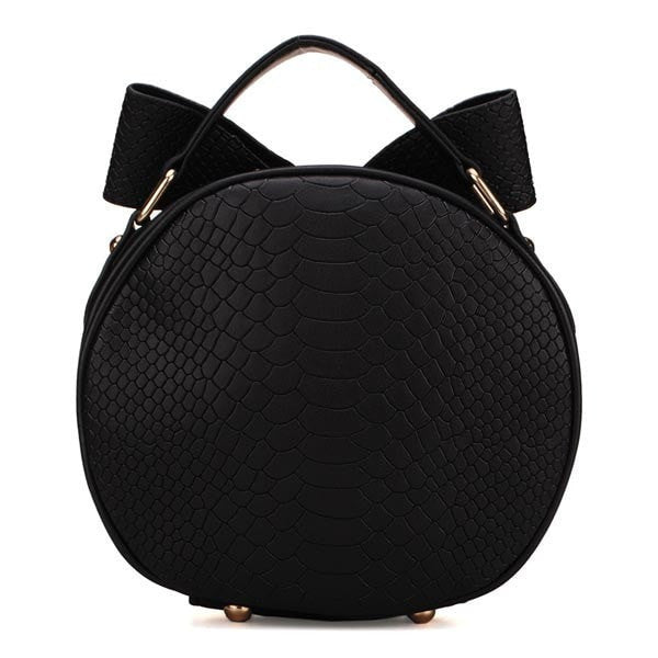Fashion Girls Small Bow tie Rabbit Ears Round Shoulder Cross Body Bag-Handbags-Loluxe