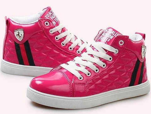 Fashion Lover's Comfortable Casual High-Top Ladies Sneakers 3 Colors-Loluxe