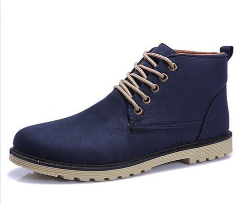 Fashion Men's Lace-up Casual Ankle Boots 3 Colors-Loluxe