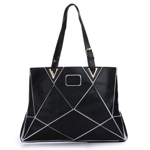 Fashion PU Leather Big Capacity Patchwork Handbag Single Shoulder Bag-Handbags-Loluxe