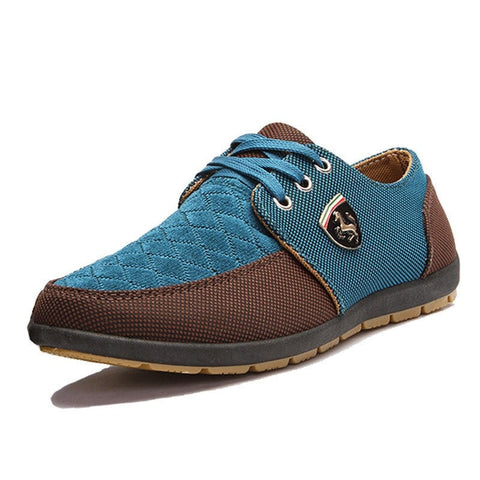 Fashionable Men's Two-Tone Canvas Shoes 3 Colors-Loluxe