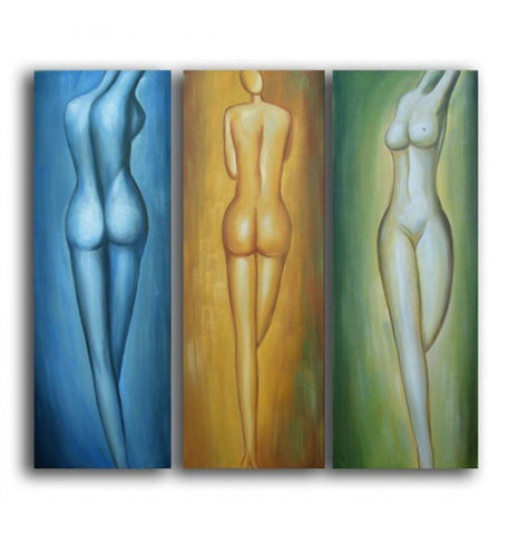 "Feminine Forms Canvas Wall Art H 48 "" x W 48 ""-Loluxe"