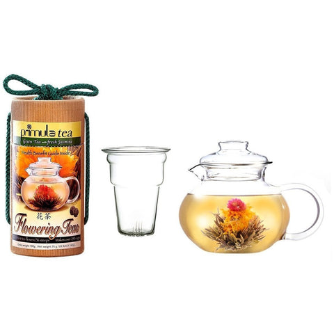 Flowering Tea Set with 40-oz Stove Top Clear Glass Pot Kettle and Infuser-Kitchen > Teapots-Loluxe