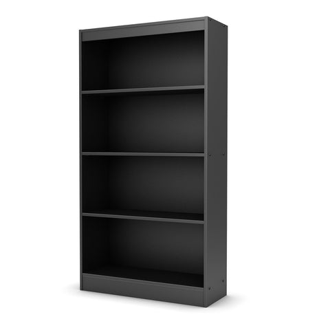Four Shelf Eco-Friendly Bookcase in Black Finish-Living Room > Bookcases-Loluxe