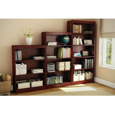 Four Shelf Eco-Friendly Bookcase in Royal Cherry Finish-Living Room > Bookcases-Loluxe